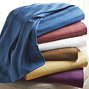 400-Thread Count Damask Stripe Sheets