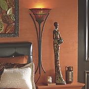 rattan wall lamp