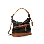Two-Tone Belted Bag by Hush Puppies