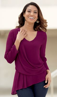 Side Drape Asymmetrical Top