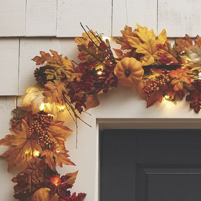 Lighted Fall Leaves Garland From Country Door Nw725588