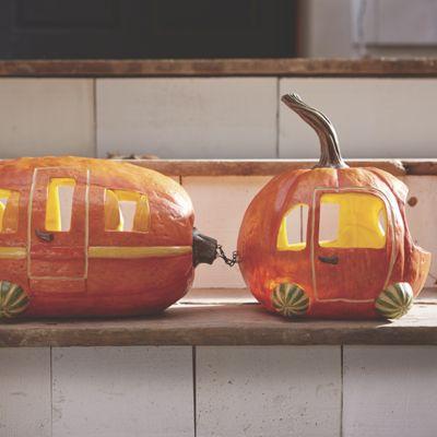 Pumpkin Car and Trailer Set