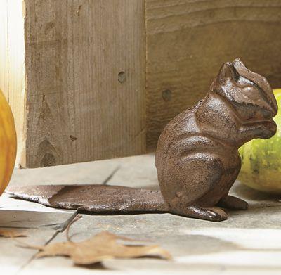 Squirrel doorstop from country door 725604 - Cast iron squirrel door stop ...