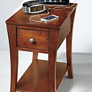 End Table with Drawer and Power Option