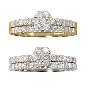 round cluster bridal set 1