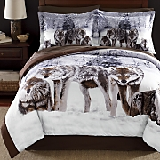 Shadow Wolf Comforter Set and Window Treatments
