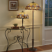 Floor lamps contemporary modern floor lamps country door haverhill stained glass floor lamp 4 aloadofball Images