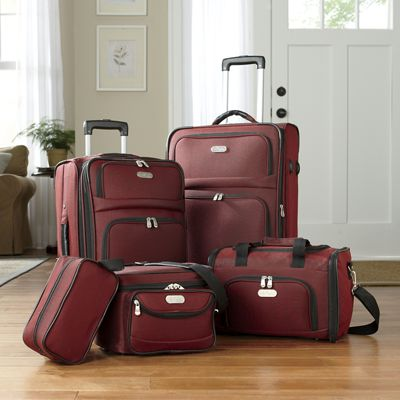 5-Piece Expandable Luggage Set by Bob Mackie from Ginny\'s   727161