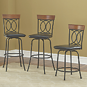 Set of 3 Adjustable Barstools