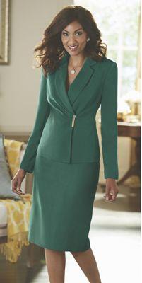 Pleated Surplice Suit