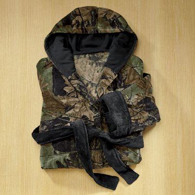 Camo Fleece Robe by Trail Crest
