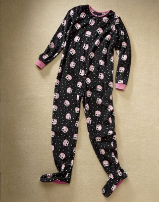Owls Footed Fleece Pajamas