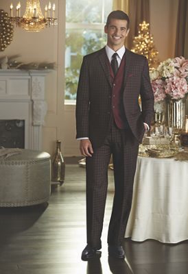 Black and Red 3-Piece Suit