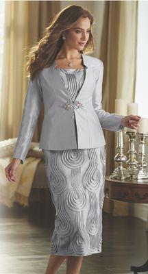 Mahira Ribbon-Trim 3-Piece Suit