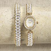 cubic zirconia watch   bracelet set