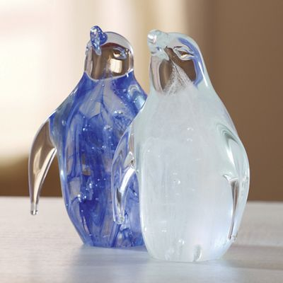 Glass Glow Penguin Figurine