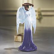 purple angel figurine