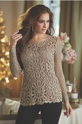 Sequin Crochet Sweater