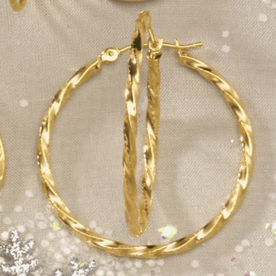 Gold Round/Twist Hoops