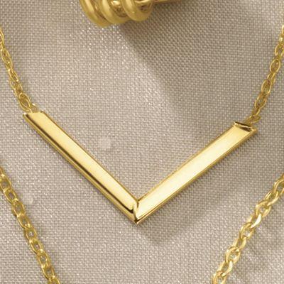 Gold V-Pendant