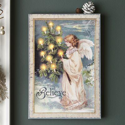 Lighted Angel Canvas