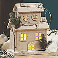 Short LED Snow House