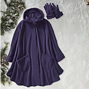 Simone Sherpa Cape and Gloves Set