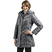 Hooded Chevron Coat by Harve Benard