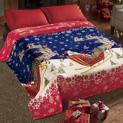 Santa Plush Blanket/Coverlet