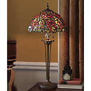 Leaf Stained Glass Table Lamp