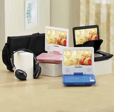"7"" Swivel Screen Portable DVD Player by Sylvania"
