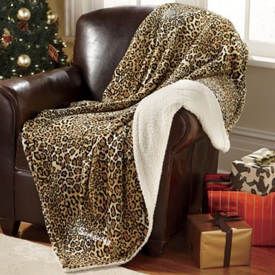 Personalized Cheetah Throw
