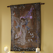 fiber optic angel of light wall hanging 124