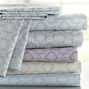 Traditional Print Microfiber Sheet Set