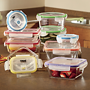 chef tested 18 pc  glass storage set by montgomery ward