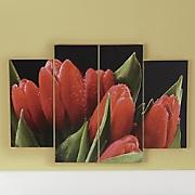 4-Piece Tulip Art Canvas