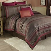 Sevilla 6-Piece Bed Set, Decorative Pillows and Window Treatments