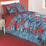 Rock Star Complete Bed Set, Pllow and Valance