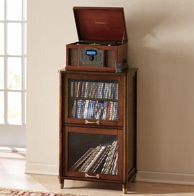 Vinyl Record Stereo Cabinet