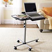 black laptop table