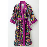 water color robe gown set