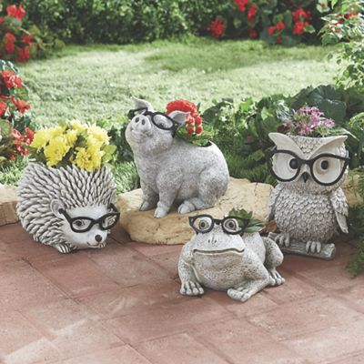 Funky Glasses Animal Planter