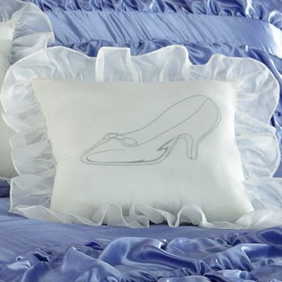 Enchanting Slipper Sparkle Pillow