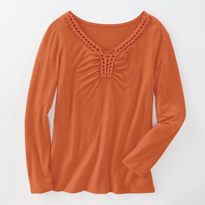 Braided V-Neck Top