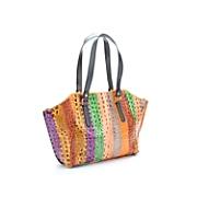 Multi Stripe Croco Bag by Sondra Roberts
