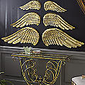 Set of 2 Metal Large Angel Wing Decoration