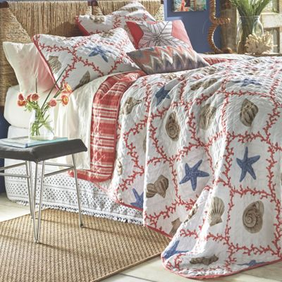 Oversized Decorative Pillow Ideas : Key West Oversized Quilt Set and Decorative Pillows from Country Door NK732252