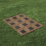 set of 12 two tone patio tiles