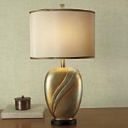 Oversized Gold Wave Lamp