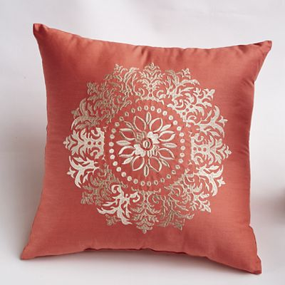Heather Embroidered Pillow